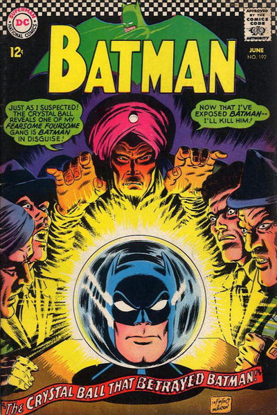 Cover for Batman (DC, 1940 series) #192