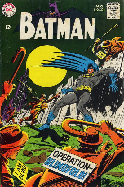 Cover for Batman (DC, 1940 series) #204