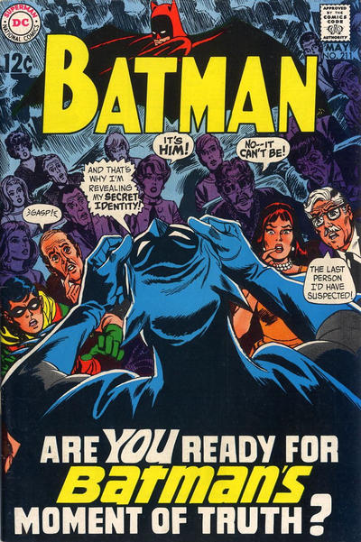 Cover for Batman (DC, 1940 series) #211