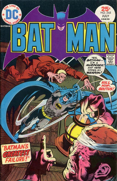 Cover for Batman (DC, 1940 series) #265