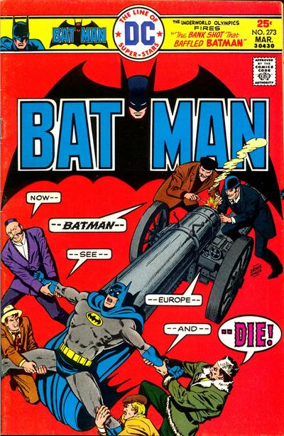 Cover for Batman (1940 series) #273