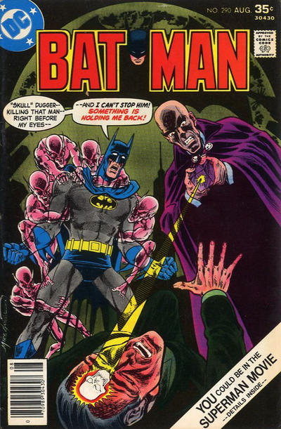 Cover for Batman (DC, 1940 series) #290