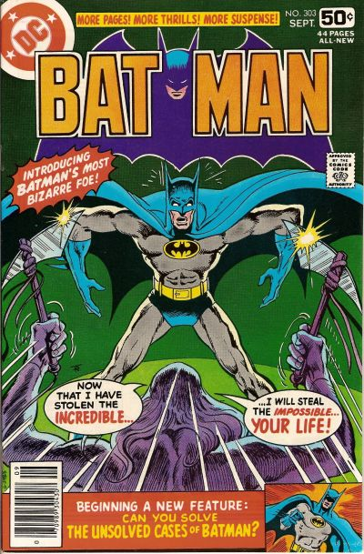 Cover for Batman (DC, 1940 series) #303