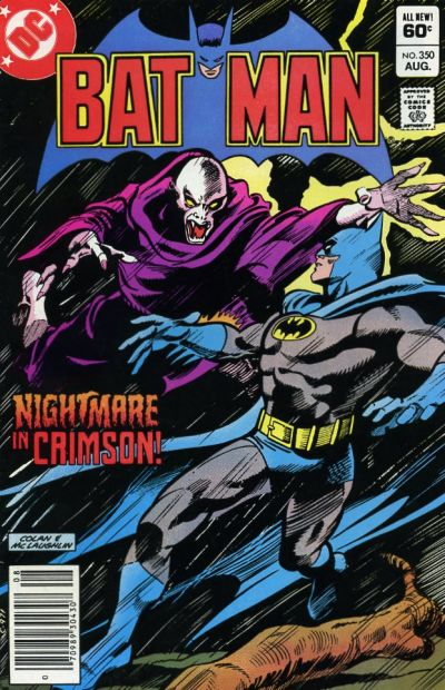 Cover for Batman (DC, 1940 series) #350 [Newsstand]
