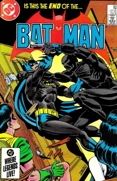 Cover for Batman (DC, 1940 series) #380