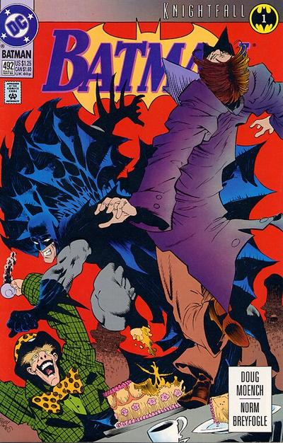 Cover for Batman (DC, 1940 series) #492 [Platinum Edition]