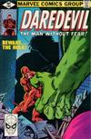 Cover for Daredevil (Marvel, 1964 series) #163 [Direct Edition]