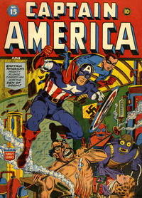 Cover for Captain America Comics (1941 series) #15