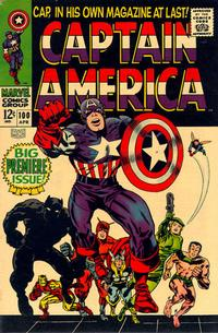 Cover Thumbnail for Captain America (Marvel, 1968 series) #100