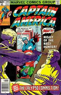 Cover Thumbnail for Captain America (Marvel, 1968 series) #245 [Newsstand Edition]