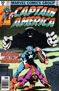 Cover Thumbnail for Captain America (Marvel, 1968 series) #251 [Newsstand Edition]