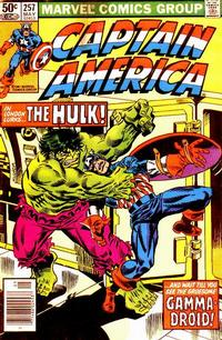 Cover Thumbnail for Captain America (Marvel, 1968 series) #257 [Newsstand Edition]