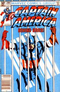 Cover Thumbnail for Captain America (Marvel, 1968 series) #260 [Newsstand Edition]