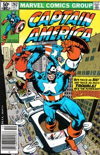 Cover Thumbnail for Captain America (Marvel, 1968 series) #262 [Newsstand Edition]