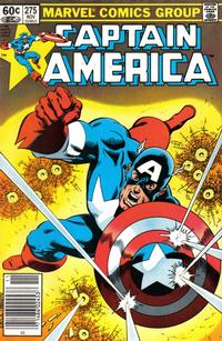 Cover Thumbnail for Captain America (Marvel, 1968 series) #275 [Newsstand Edition]