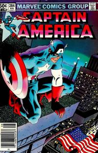 Cover Thumbnail for Captain America (Marvel, 1968 series) #284 [Newsstand Edition]