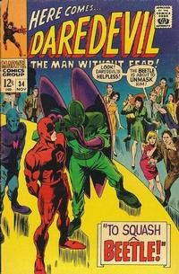 Cover for Daredevil (Marvel, 1964 series) #34