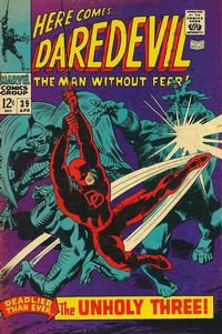 Cover Thumbnail for Daredevil (Marvel, 1964 series) #39