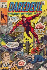 Cover Thumbnail for Daredevil (Marvel, 1964 series) #74