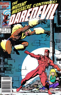 Cover Thumbnail for Daredevil (Marvel, 1964 series) #238 [Newsstand Edition]