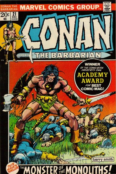 Cover for Conan the Barbarian (Marvel, 1970 series) #21 [British Price Variant]