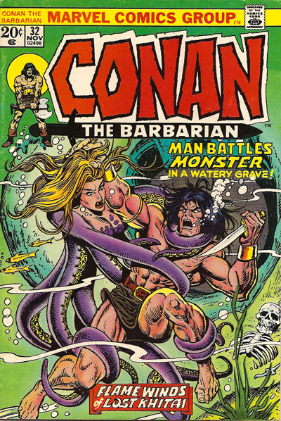 Cover for Conan the Barbarian (Marvel, 1970 series) #32 [Regular Edition]
