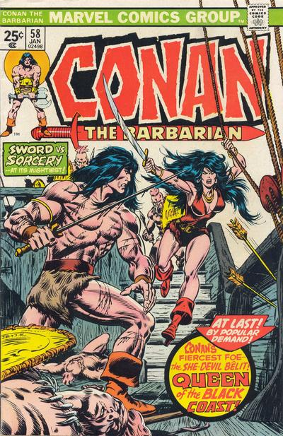 Cover for Conan the Barbarian (Marvel, 1970 series) #58