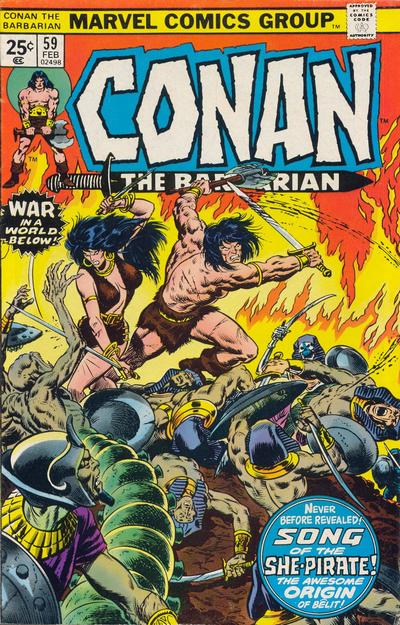Cover for Conan the Barbarian (Marvel, 1970 series) #59 [Regular Edition]
