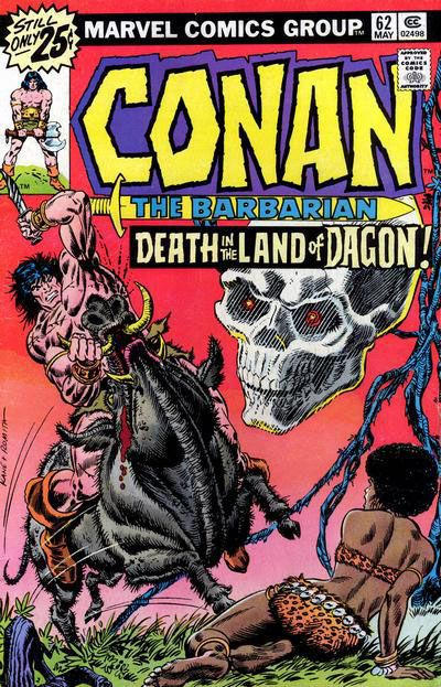 Cover for Conan the Barbarian (Marvel, 1970 series) #62 [30¢ Price Variant]