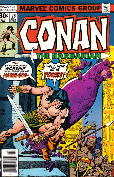 Cover for Conan the Barbarian (Marvel, 1970 series) #76 [30¢ Cover Price]