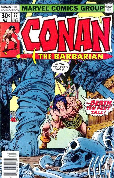 Cover for Conan the Barbarian (Marvel, 1970 series) #77 [30¢ Cover Price]