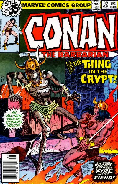 Cover for Conan the Barbarian (Marvel, 1970 series) #92 [Regular Edition]