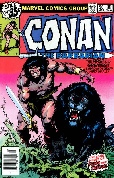 Cover for Conan the Barbarian (Marvel, 1970 series) #96