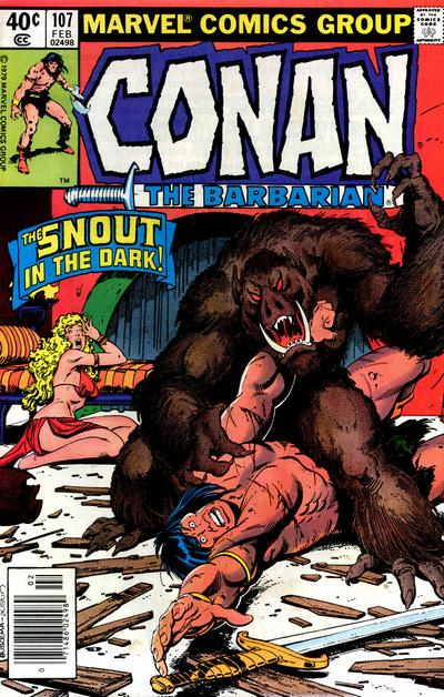 Cover for Conan the Barbarian (Marvel, 1970 series) #107 [Newsstand Edition]