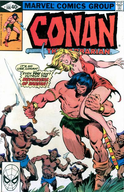 Cover for Conan the Barbarian (Marvel, 1970 series) #108 [Direct Edition]