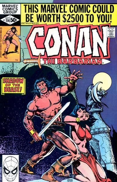 Cover for Conan the Barbarian (Marvel, 1970 series) #114 [Direct Edition]