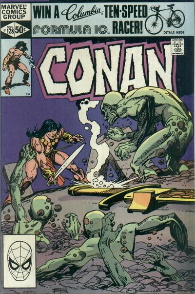Cover for Conan the Barbarian (Marvel, 1970 series) #128 [Newsstand Edition]