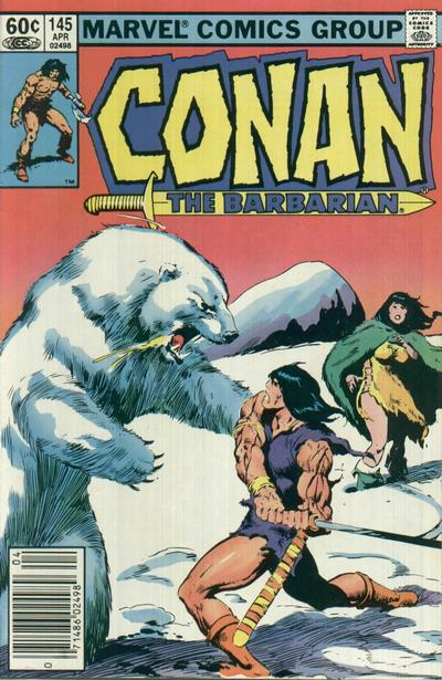 Cover for Conan the Barbarian (Marvel, 1970 series) #145 [Newsstand Edition]
