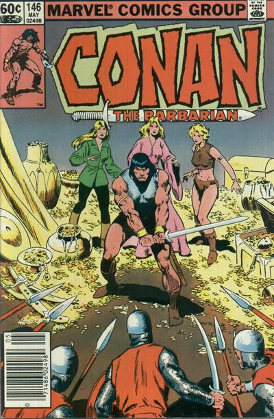 Cover for Conan the Barbarian (1970 series) #146 [Newsstand Edition]