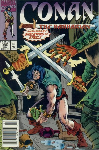Cover for Conan the Barbarian (Marvel, 1970 series) #256 [Direct Edition]