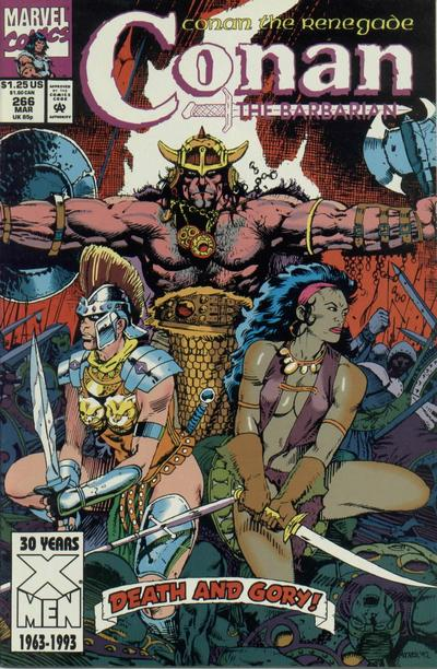 Cover for Conan the Barbarian (Marvel, 1970 series) #266 [Direct Edition]