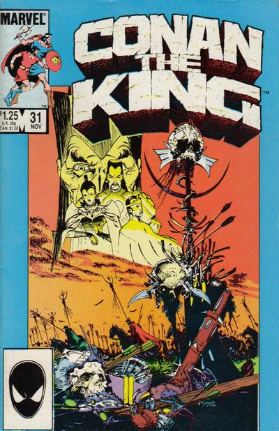 Cover for Conan the King (Marvel, 1984 series) #31 [Direct Edition]