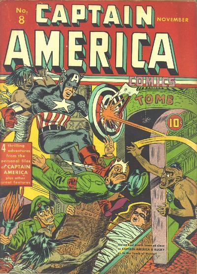 Cover for Captain America Comics (Marvel, 1941 series) #8