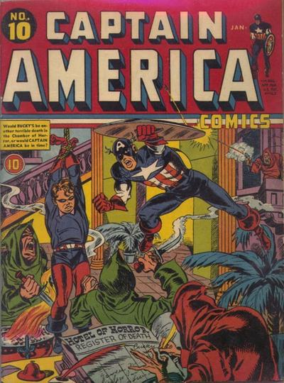 Cover for Captain America Comics (Marvel, 1941 series) #10