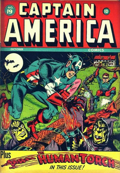Cover for Captain America Comics (Marvel, 1941 series) #19