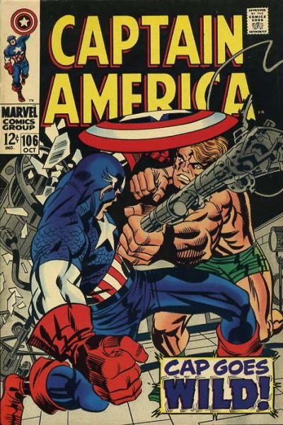 Cover for Captain America (Marvel, 1968 series) #106