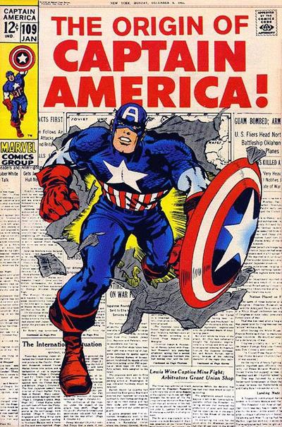 Cover for Captain America (Marvel, 1968 series) #109