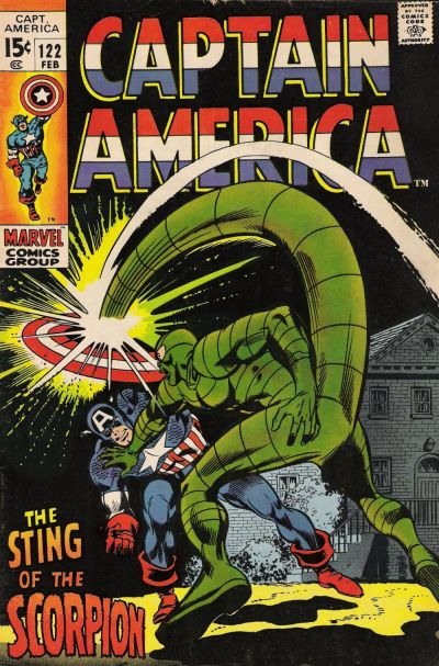Cover for Captain America (Marvel, 1968 series) #122