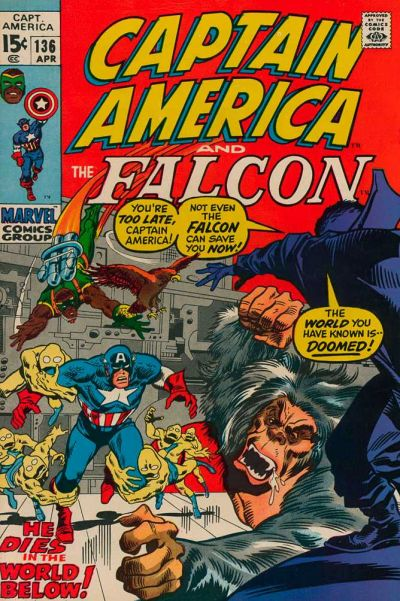 Cover for Captain America (Marvel, 1968 series) #136