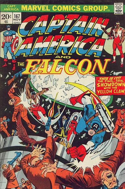 Cover for Captain America (Marvel, 1968 series) #167 [British Price Variant]